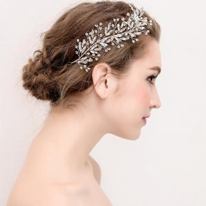 Exqusite Bead Strand Hair Pin Jewelry for Wedding Bride -