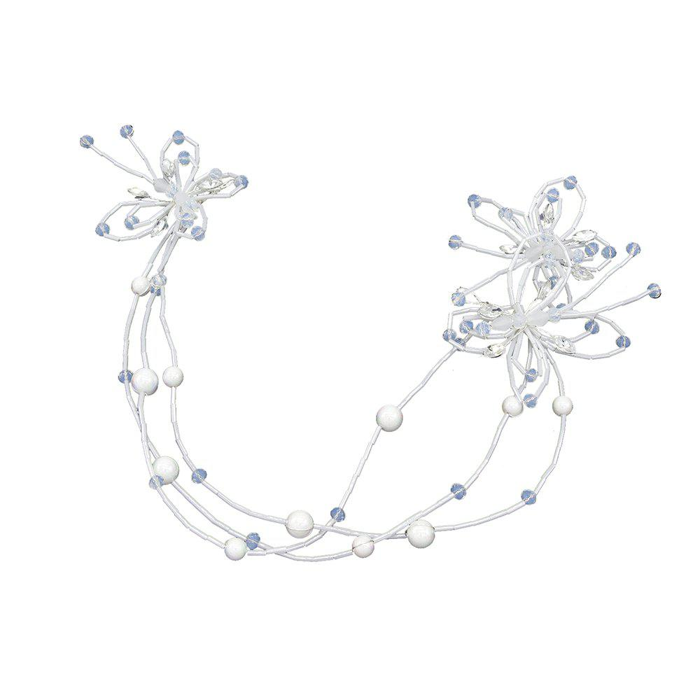 Cheap White Butterfly Handmade Headband Hair Jewelry for Wedding Bride