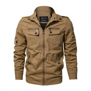 2018 New Spring and Autumn multi-pocket Military Equipment Plus Size Jacket -