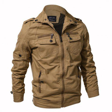 Fancy 2018 New Spring and Autumn multi-pocket Military Equipment Plus Size Jacket