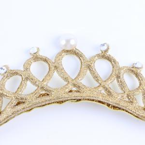 New Lovely Baby Pearl Crystal Crown Headband Stretchable Hair Band Kids Headwear Accessories Photo Prop -
