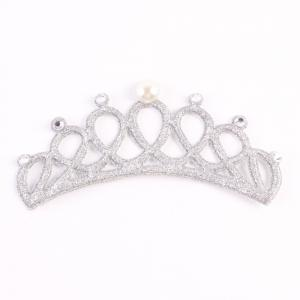 Новый симпатичный младенческий жемчуг Кристалл Crown Headband Stretchable Hair Band Kids Headwear Accessories Фото Prop -