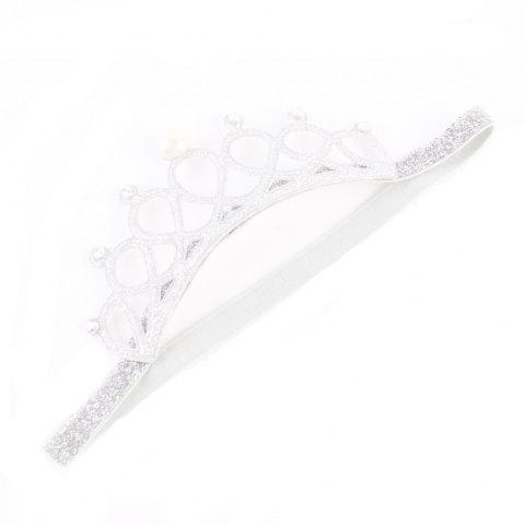 Outfit New Lovely Baby Pearl Crystal Crown Headband Stretchable Hair Band Kids Headwear Accessories Photo Prop