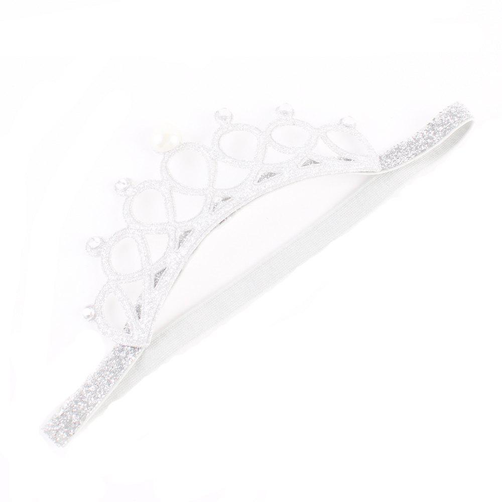 Новый симпатичный младенческий жемчуг Кристалл Crown Headband Stretchable Hair Band Kids Headwear Accessories Фото Prop