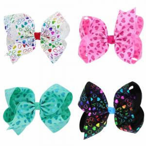 Children Large Bow Hairpin Unicorn Fancy Girls Colord Hair Accessories -
