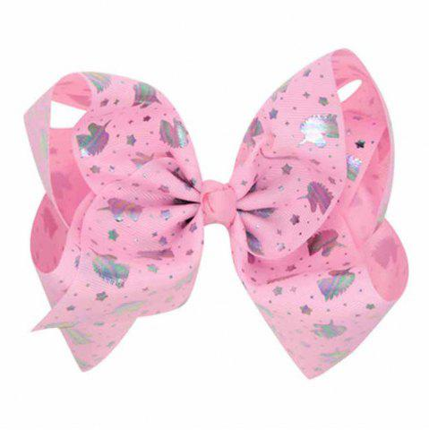 New Children Large Bow Hairpin Unicorn Fancy Girls Colord Hair Accessories