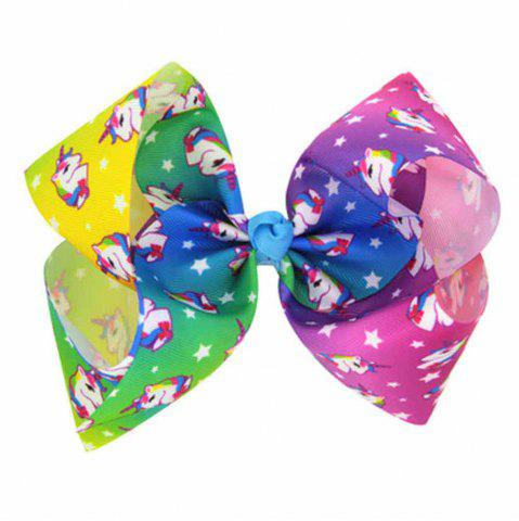 Chic Children Large Bow Hairpin Unicorn Fancy Girls Colord Hair Accessories