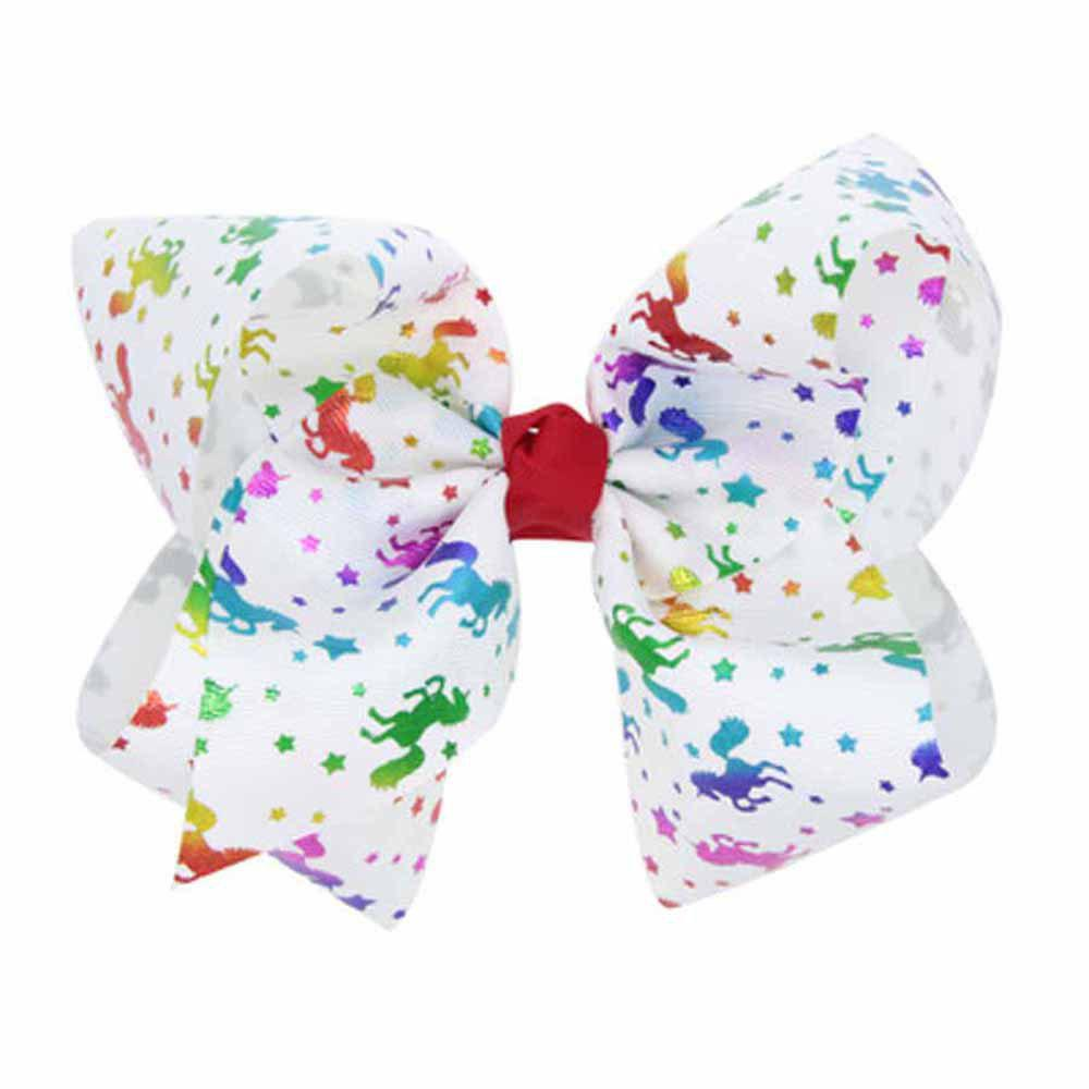 Outfits Children Large Bow Hairpin Unicorn Fancy Girls Colord Hair Accessories