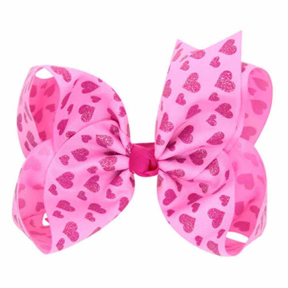 Discount Children Large Bow Hairpin Unicorn Fancy Girls Colord Hair Accessories