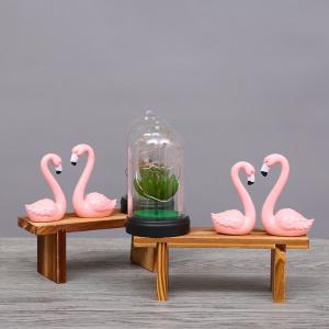 Creative Flamingo Night Light Wooden Ornaments -