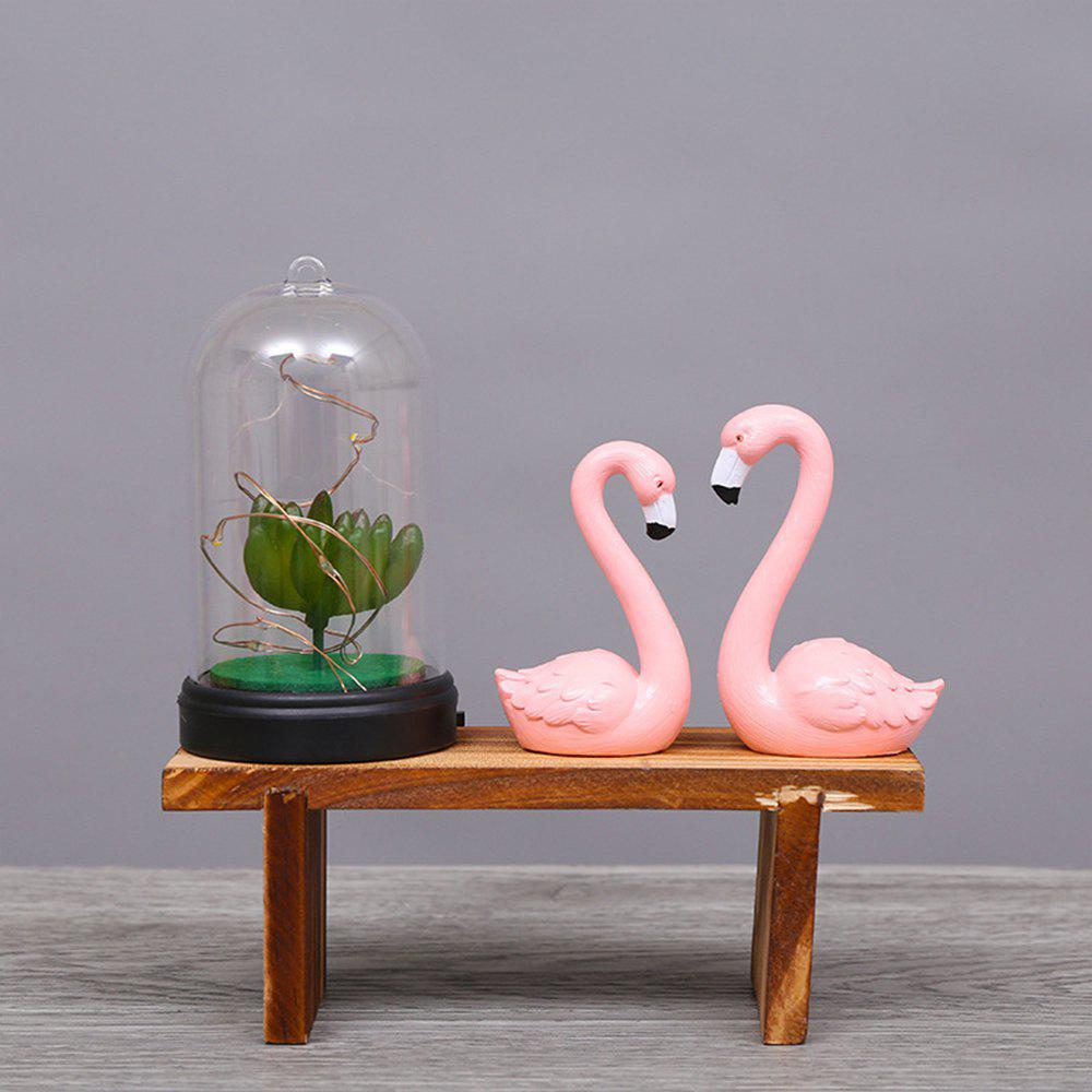Latest Creative Flamingo Night Light Wooden Ornaments