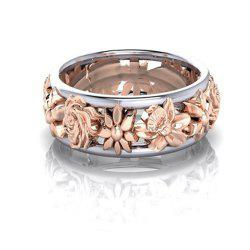 Europe and The United States Plum Gold Ring Female -