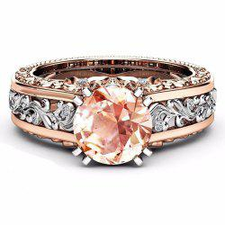 Colored Gemstone Rose Gold Color Ring -
