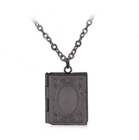 Affordable Simple Can Put Pictures of Pendants Carved Necklace