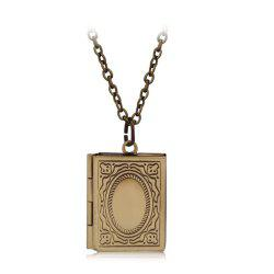 Simple Can Put Pictures of Pendants Carved Necklace -