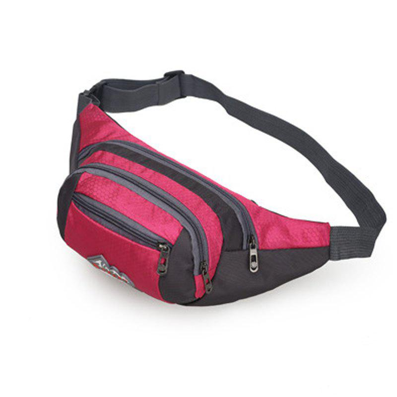 Chic Nylon Multi-layer Sports Waist Bag for Man and Women
