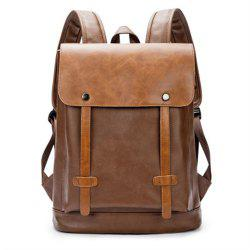 Preppy Style Leather School Backpack Bag For College Simple Design Men  Casual Daypacks New ... a68e463324497
