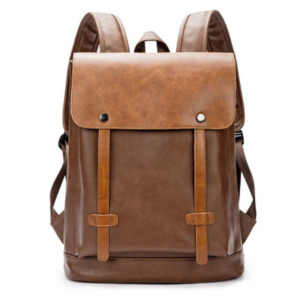 Sale Preppy Style Leather School Backpack Bag For College Simple Design Men Casual  Daypacks New 5f0d4236c4b22