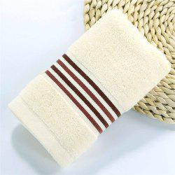 Muchun Stripe Jacquard Satin Superior Cotton Towel for Adults Kids Soft Rectangle Towels -