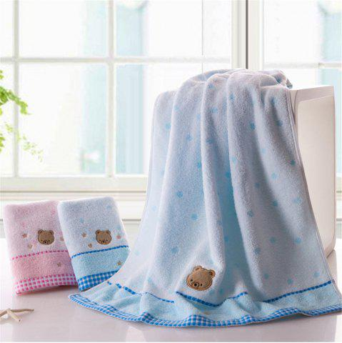 Outfits Soft Fabric Towel Embroidered With Satin Cotton Washcloth Absorbent Towel Home Textile