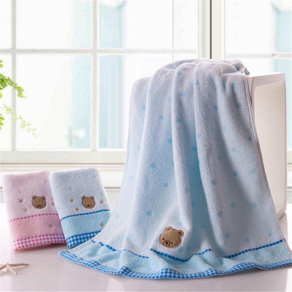 Discount Soft Fabric Towel Embroidered With Satin Cotton Washcloth Absorbent Bath Towel Home Textile