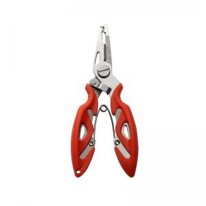 Multi Function Stainless Steel Pliers Curved Nose Scissors Fishing Line Cutters -