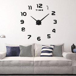 Living Room Big  Clock 3D Creative Art Wall Stick Watch DIY Clock Fashion Digital -