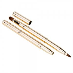 Portable Double-Headed Automatic Retractable Metal Lip Brush -
