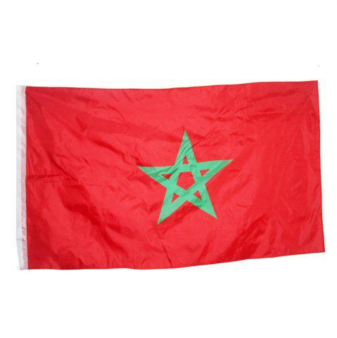 Chic Fans Games Moroccan Flag on The 4TH 90 x 150CM