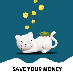 Black and White Cat Piggy Bank -