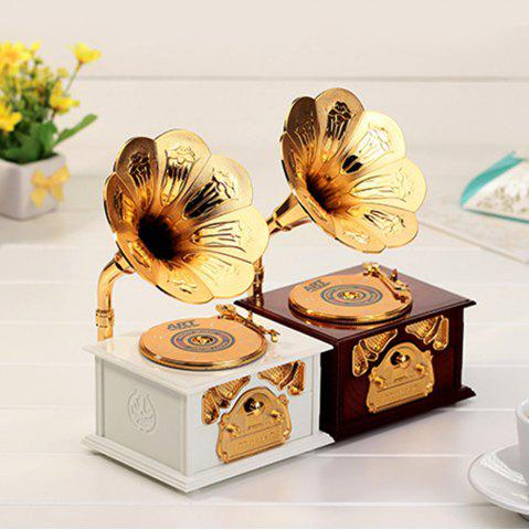 Online 2 Color Creative Gramophone Model Music Box Retro Music Box Plastic Ornaments Birthday Gift