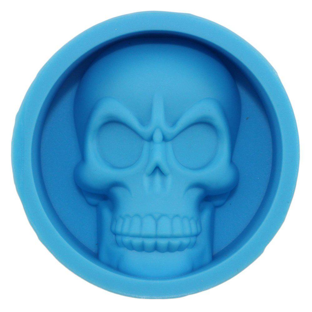 Blue Skeleton Skull Head Silicone Chocolate Muffin Cupcake Candy Ice ...