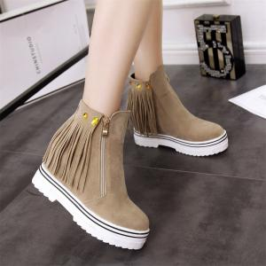 Women Shoes Tassel Ankle Boots -