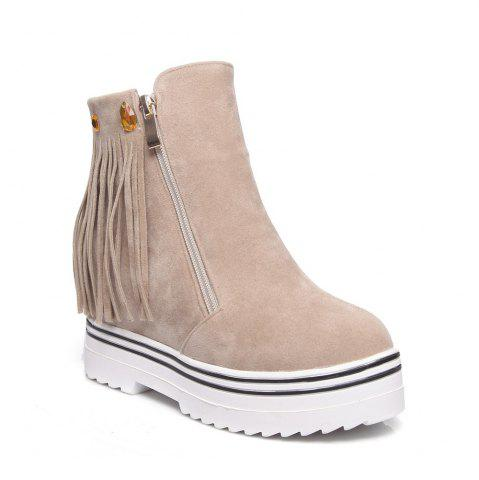 Latest Women Shoes Tassel Ankle Boots