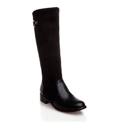 Sale Women Shoes Low Heel Fashion Winter Knee High Boots