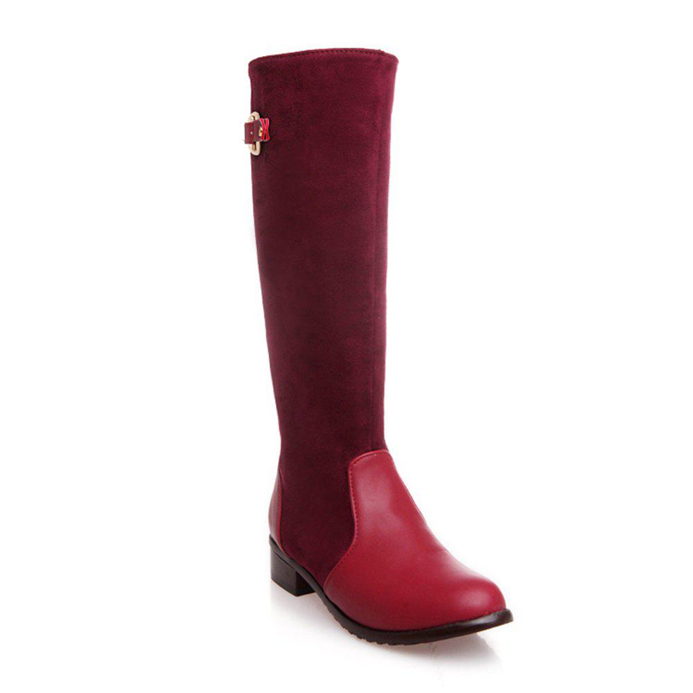 Fashion Women Shoes Low Heel Fashion Winter Knee High Boots