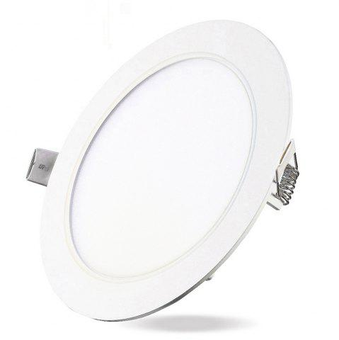 Outfit 6W Dimmable Round Flat LED Panel Light Lamp Ultra-thin LED Recessed Ceiling Light 5PCS