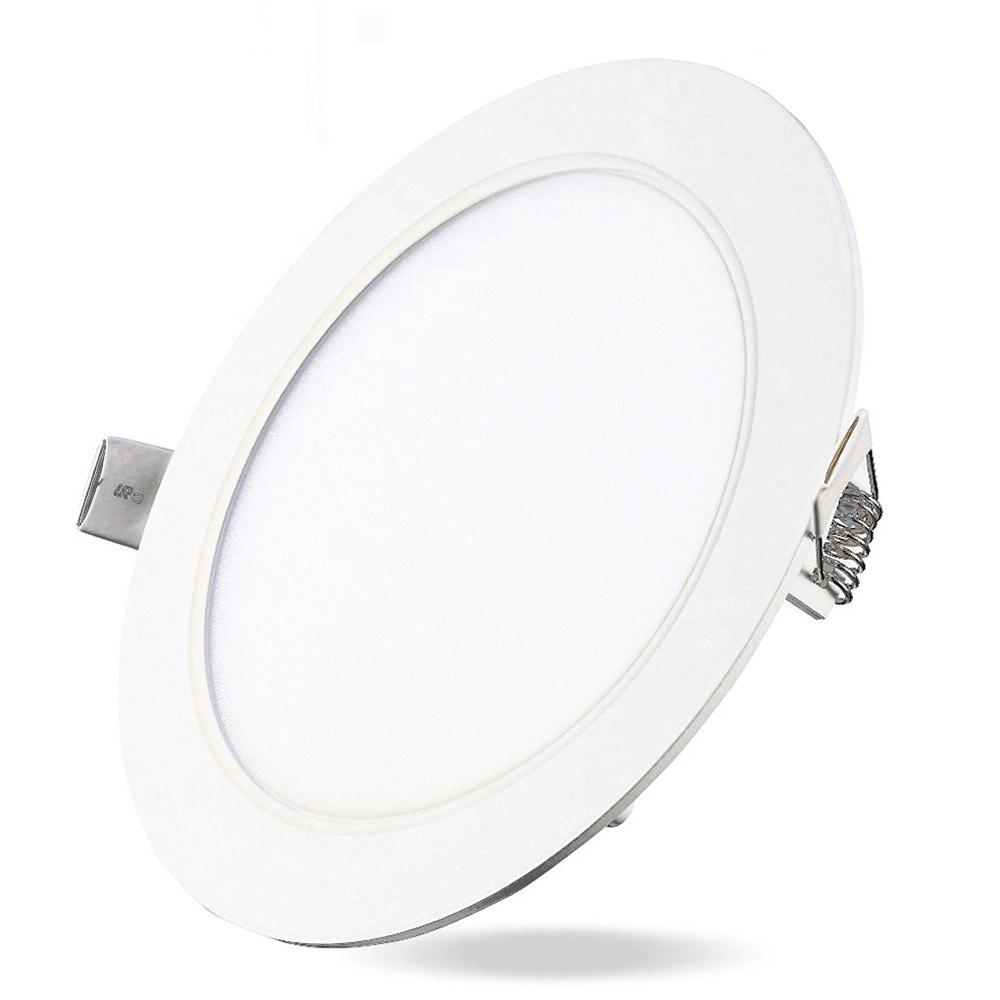 Affordable 12W Dimmable Round Flat LED Panel Light Lamp Ultra-thin LED Recessed Ceiling Light 5PCS