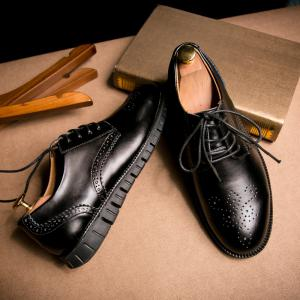 Men Casual Wear Outsole Leather Shoes -