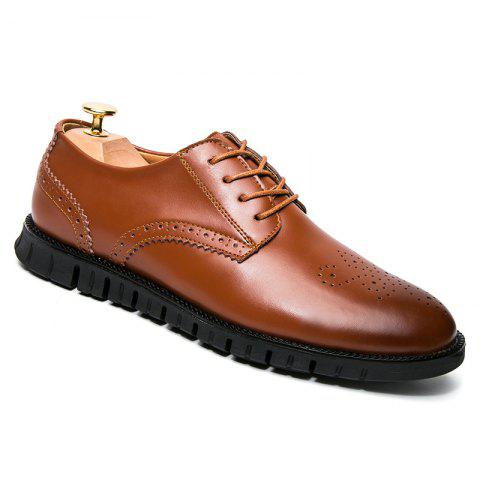 Trendy Men Casual Wear Outsole Leather Shoes