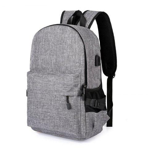 Affordable Men Casual Durable Canvas Backpack with USB Port