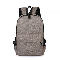Men Casual Durable Canvas Backpack with USB Port -