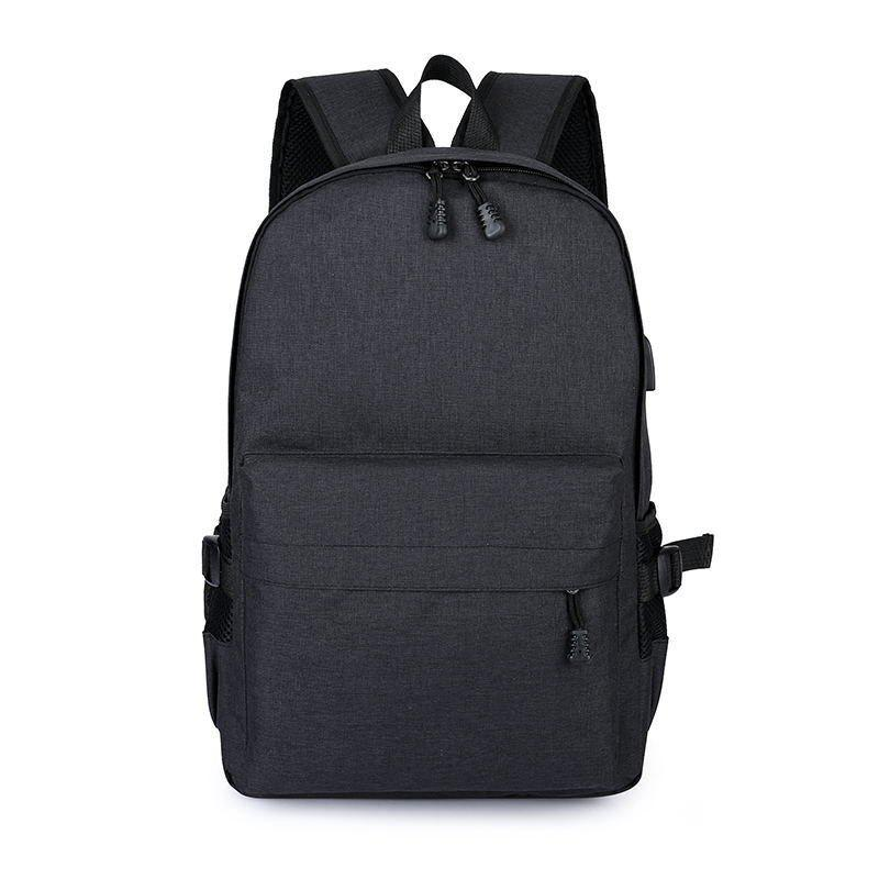 Trendy Men Casual Durable Canvas Backpack with USB Port