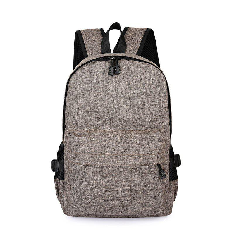 Outfit Men Casual Durable Canvas Backpack with USB Port