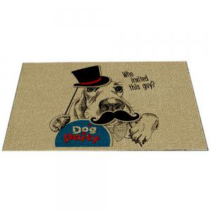 Pet Dog Party Funny Hand Painted Indoor Carpet Mat -