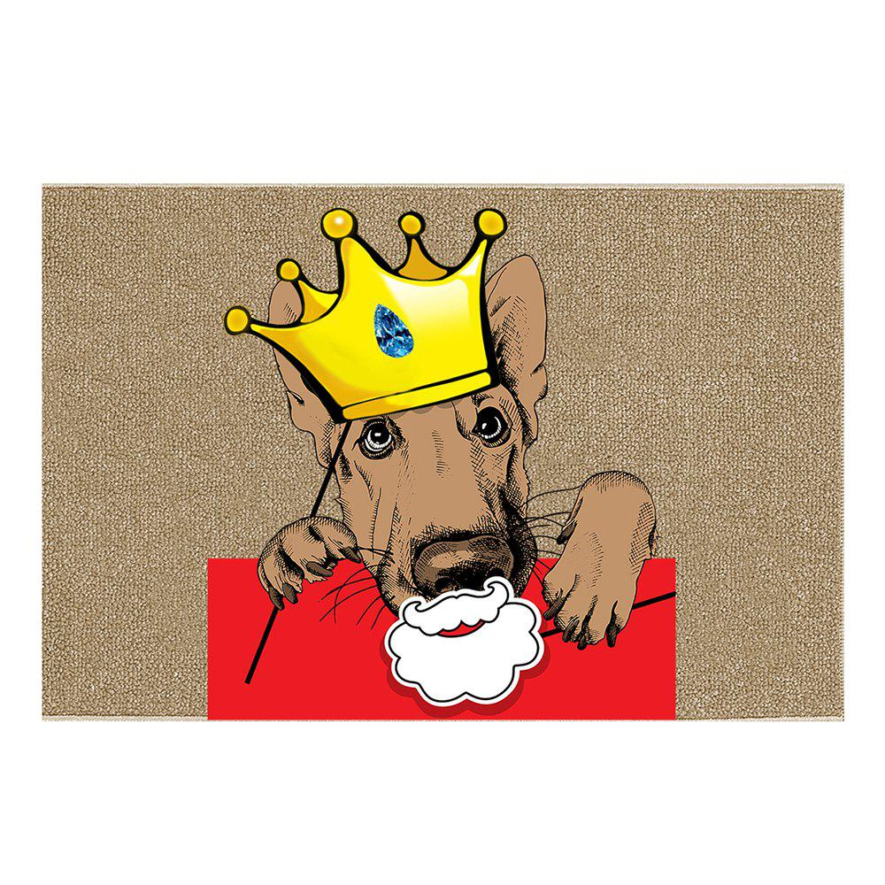 Fashion Crowned Puppy Cartoon Funny Carpet Indoor Outdoor Mat