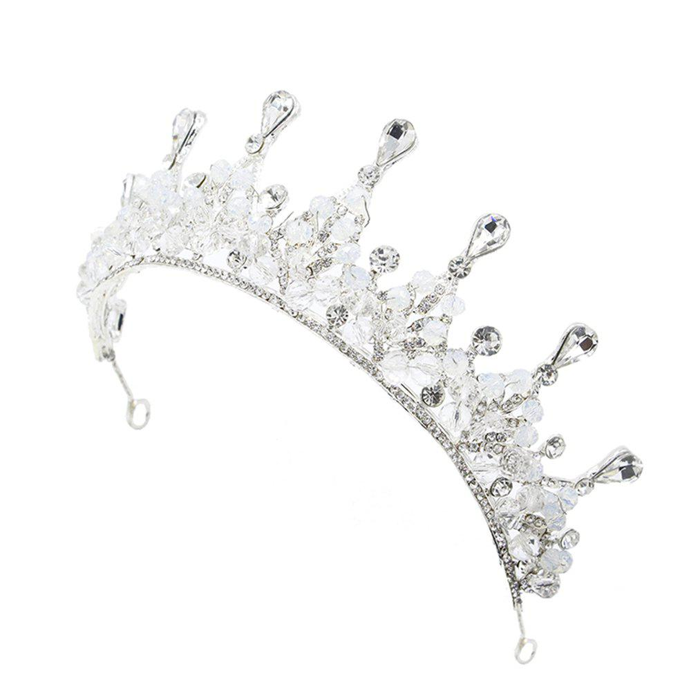 Shop Silver and Red Crystal Crown for Wedding Headband Hair Jewelry