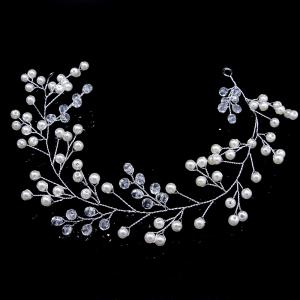 Simple Crystal Headband Hair Chain for Wedding Bride Women -