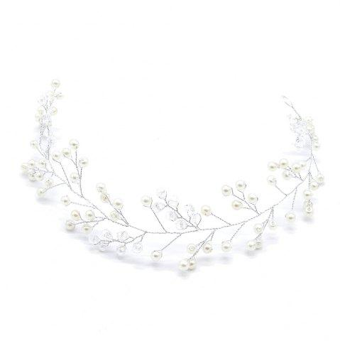 Online Simple Crystal Headband Hair Chain for Wedding Bride Women