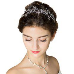 Silver Plated Crystal Headband for Women Wedding Party -